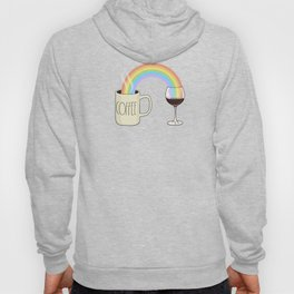 Coffee & Wine at the Ends of the Rainbow Hoody