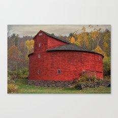 Red Round Barn Canvas Print