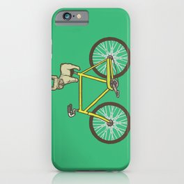 Frenchie on a Fixie iPhone Case