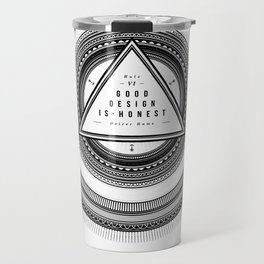 Good Design is Honest / Gutes Design ist Ehrlich Travel Mug