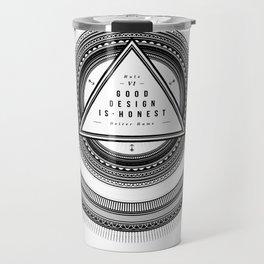 Good Design is Honest / Gutes Design ist Ehrlich Travel Mug