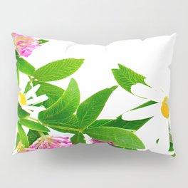Summer Meadow Flowers White Background #decor #society6 #buyart Pillow Sham
