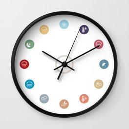 Weather symbol Wall Clock