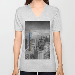 Baltimore Landscape - Bromo Seltzer Arts Tower Unisex V-Neck