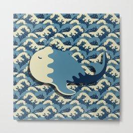 Solitary Whale Metal Print