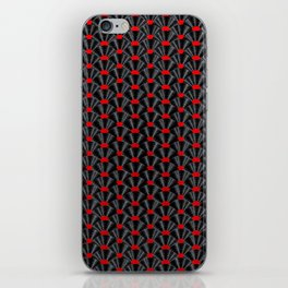 Covered in Vinyl / Vinyl records arranged in scale pattern iPhone Skin