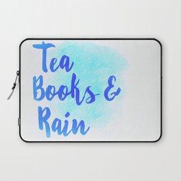 Tea, Books & Rain Laptop Sleeve