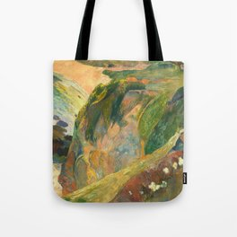 Flageolet Player on Cliff, Paul Gauguin Tote Bag