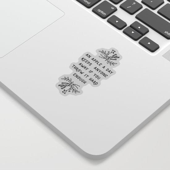 An Apple A Day BW by paperpixelprints