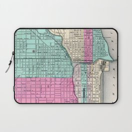 Vintage Map of Chicago IL (1855) Laptop Sleeve