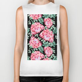 Watercolor Protea Biker Tank