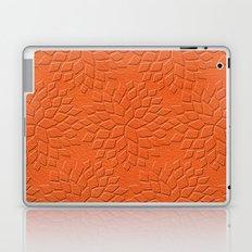 Leather Look Petal Pattern - Flame Color Laptop & iPad Skin