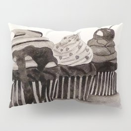 Cupcakes / Ink Painting Pillow Sham