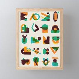 Shape of thoughts Framed Mini Art Print