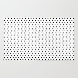Polka dot white and black Rug