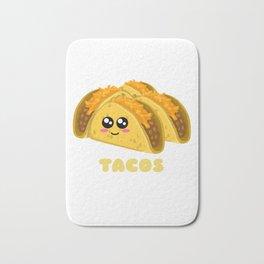 Tacos Fix Everything Funny Taco Pun Bath Mat