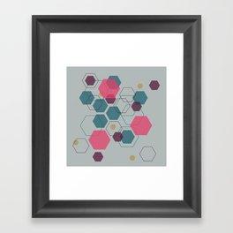 Hexagon Jewel Framed Art Print