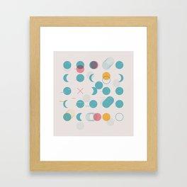 Circle Grid Framed Art Print