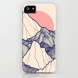 The calm morning mountains iPhone Case