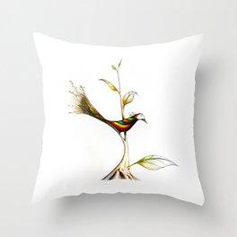 Treebird Throw Pillow