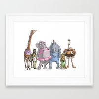 animal crew Framed Art Prints featuring Animal Mural Crew by Michael Jared DiMotta Illustrations
