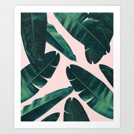 Banana Leaves - Cali Vibes #1 #tropical #decor #art #society6 Art Print