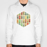 clockwork orange Hoodies featuring Car Park by Cassia Beck