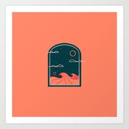 Line Scapes 4 Art Print