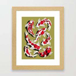 Koi Carp Zen Framed Art Print