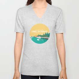 Do Not Visit Lakes Entrance Unisex V-Neck