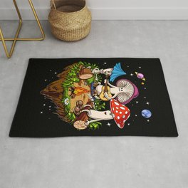 Magic Mushrooms Hippie Fungi Rug