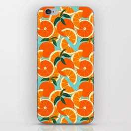 Orange Harvest - Blue iPhone Skin