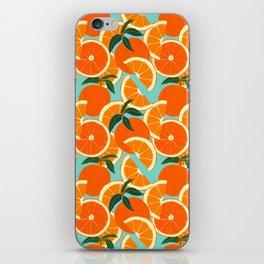 Orange Harvest - Blue iPhone Skin