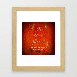 Guest Room WIFI Password Framed Art Print