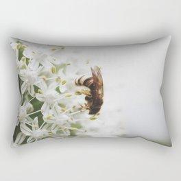 Macro :: Bee Rectangular Pillow