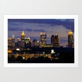Sunset of Atlanta Georgia Art Print