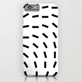 Black and White Geometric Lines Falling Down iPhone Case