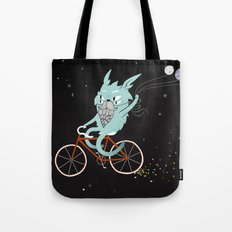Bunny in Space Tote Bag