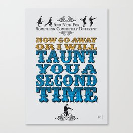 No05 My Silly Quote Poster Canvas Print
