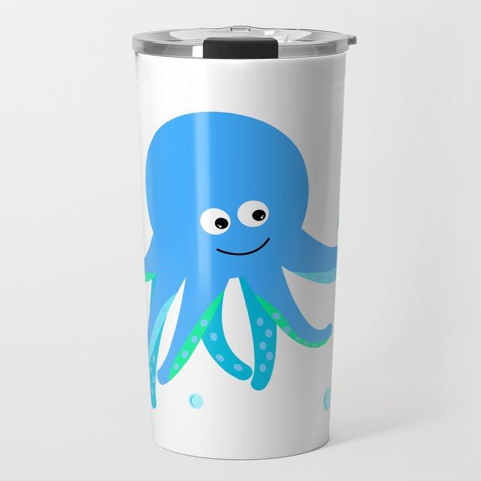 Blue baby octopus Travel Mug
