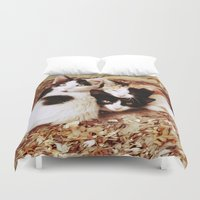 thundercats Duvet Covers featuring Three Kitties by Augustinet