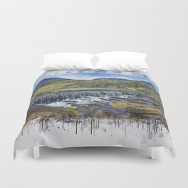 Snowdonia Tryfan Painting Duvet Cover