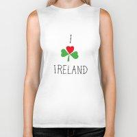 ruben ireland Biker Tanks featuring Ireland by David