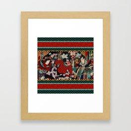Kabuki Samurai Warriors Framed Art Print