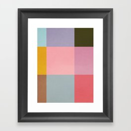 Distressed Cube Framed Art Print