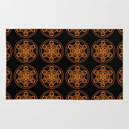 Metatron Red Gold Rug