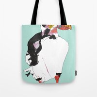 puffin Tote Bags featuring Puffin by caseysplace