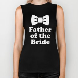 Father Of The Bride Bow Tie Wedding Party Biker Tank