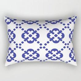 Blue Tile Rectangular Pillow