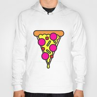 boyfriend Hoodies featuring pizza is my boyfriend by molly ennis